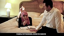 FamilyStrokes - Pakistani Wife Rides Cock In Hijab thumbnail