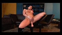 Masturbation in thigh high boots and panties