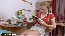 Pigtailed Blonde Girl Fuck By Teacher