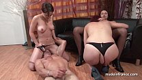 FFFM French babes hard analized and fist fucked by a lucky guy thumbnail