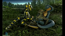 Snakes having fun in the woods (animation by petruz and evilbanana)