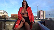 Dark babes public masturbation and naughty exhibitionist flashing of Honesty Cab Preview