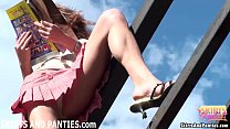 Farmer's daughter Lilia flashing her little panties preview image