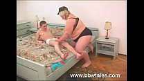 bbw blonde mature with young boy thumbnail