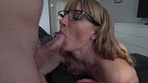 Milf cocksucker - Cum lover. Contactless blowjob in glasses. Close up