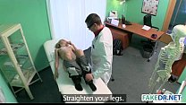 Blonde babe gets fucked in fake hospital tumblr xxx video