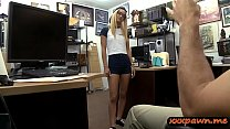 Petite blonde teen with glasses gets fucked by pawn guy