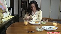 JAV Uncensored with english subtitle: Mom gives son blowjob before leaving porn thumbnail