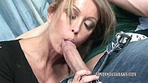 Mature slut Kristina Cross takes all the jizz on her face