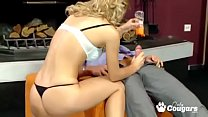 Cindy White Strokes A Cock Until It Explodes