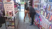 THE BITCH DANNA HOT COMES NUDE TO A SEX SHOP TH...