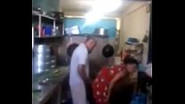 13156 Srilankan chacha fucking his maid in kitchen quickly preview