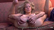 Diana Love ANAL cigar BLOOPER, from the archives porn image