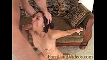 brunette bitch licking ass and sucking big cock Preview
