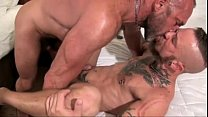 dad and tatted boy from MenPlays.com