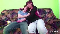 Young Boy Touch and Seduce Step-Mom to Get Firs...