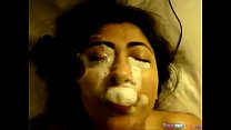 revathy nude ◦ Messy cum and spit face thumbnail