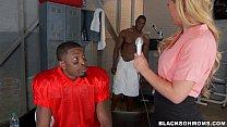 MILF Reporter in Black locker room Preview