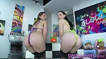 SWALLOWED Sloppy blowjob from Audrey and Fallon