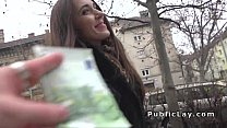 Russian babe flashing panties in public's Thumb