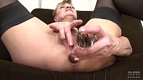 Granny anal fucked in hardcore interracial threesome she is so horny Preview