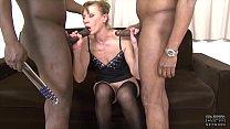 Granny anal fucked in hardcore interracial threesome she is so horny thumbnail