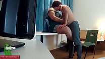 Playing with his cock and his ass on the desk. RAF099 video