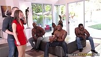 Birthday Gangbang with Sexy Mom Alana Cruise video