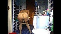 DSCN3374.AVI enema in my blue bathroom (first part)and ass masturbation