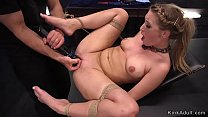 Tied up blonde zappered and vibed