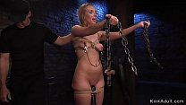Tied up blonde zappered and vibed pornhub video