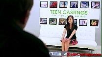 Brutal casting audition for hardfucking teen