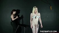 Submissive Satines spanking and lesbian bdsm by dominant Nimue Allen humiliation