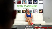 Tattooed teen roughfucked at brutal audition preview image