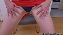 Euro milf Elisabeth loves stripping and playing thumbnail