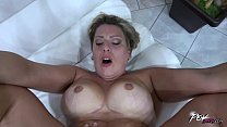 Busty piece of woman ride cock so horny that cum on fat pussy fast thumbnail