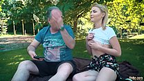 19850 Petite teen fucked hard by grandpa on a picnic she blows and swallows him preview