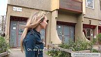 Blonde Hungarian amateur bangs big dick outdoors Preview