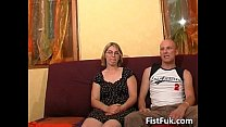 Blonde Milf Shows Her Big Boobs And Wet
