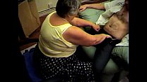 Grandma libby from EpikGranny.com gives blowjob and footjob Preview