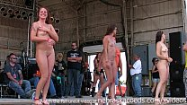 gorgeous biker chicks getting fully nude in iowa wet tshirt contest