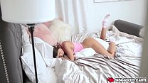 naughty stepsis lily adams masturbates on a couch - rat xxx thumbnail
