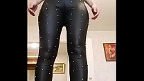 Big ass teen hot sexy girl big tits beautiful porn Black hard transparent leggings tight jeans and naughty top Snickers baby thumbnail