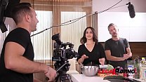 TV chef Ginebra Bellucci gets her sexy asshole fucked by cameraman and host GP223 thumbnail