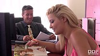 Threesome action at the office with Minnie manga and Lana video