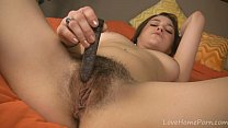 18149 Hairy pussy makes that vibrator disappear preview