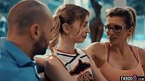 Coach wife brings in tiny teen cheerleader for husband