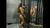 Slutty brunette playgirl gets to fuck her kinky...