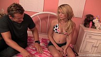 Teen Pornstar Tiffany Fox caught squirting by s...