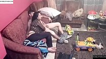 Spy camera records couple fucking in the living room. JAV245 صورة